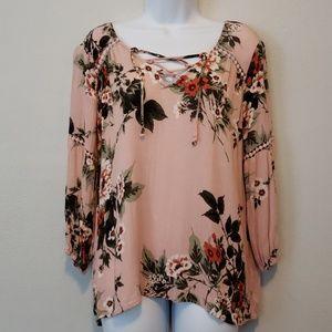 Super cute floral print blouse